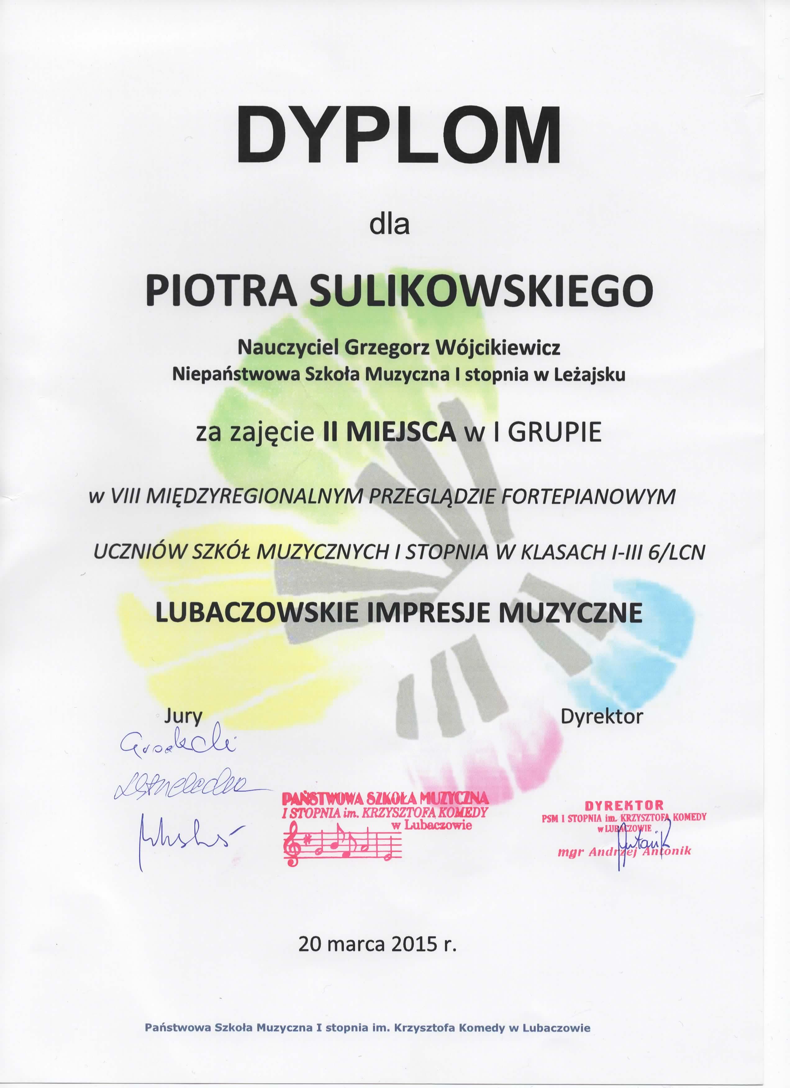 Piotr Sulikowski - 20.03.2015