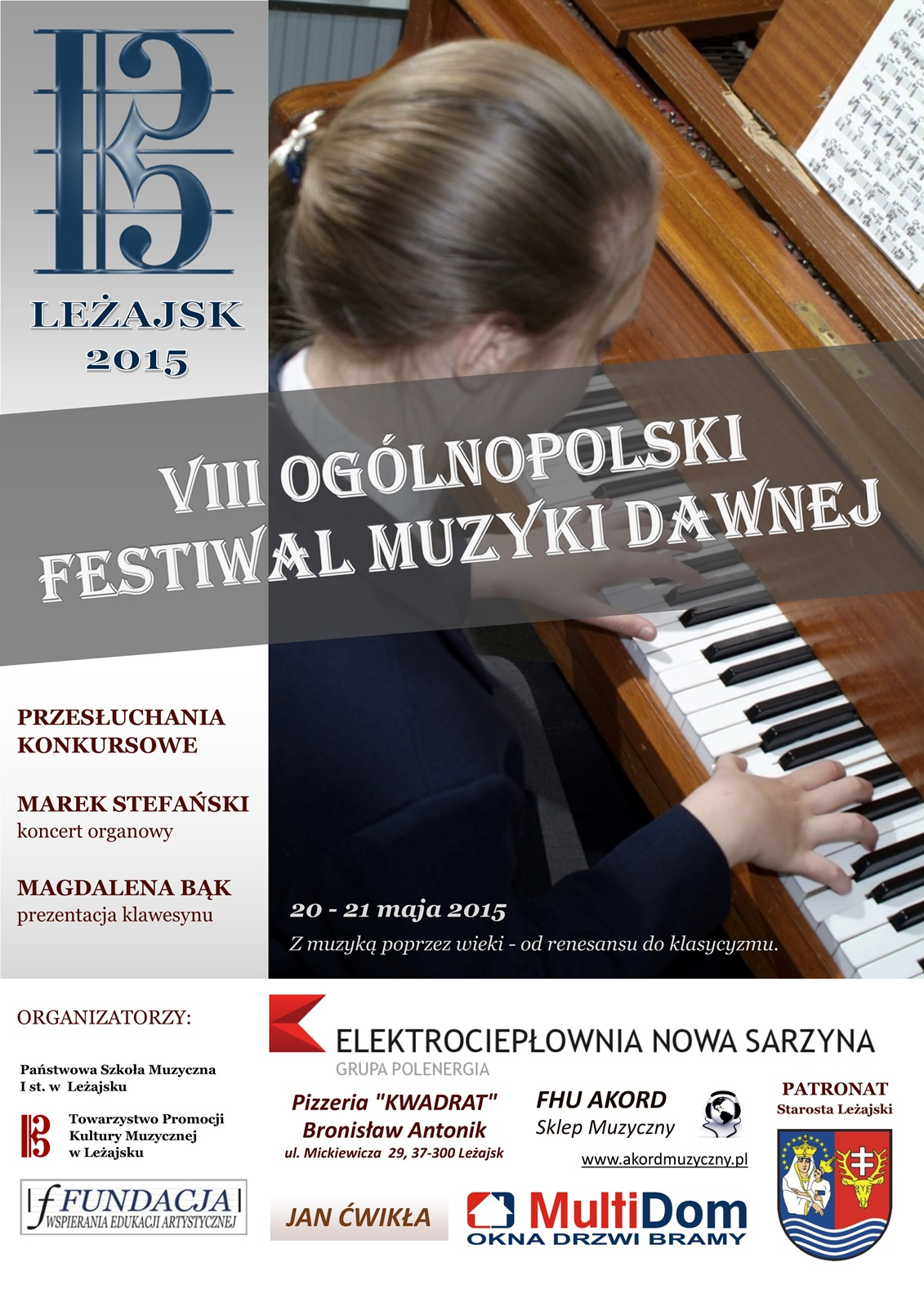 VIII Ogólnopolski Festiwal Muzyki Dawnej - plakat