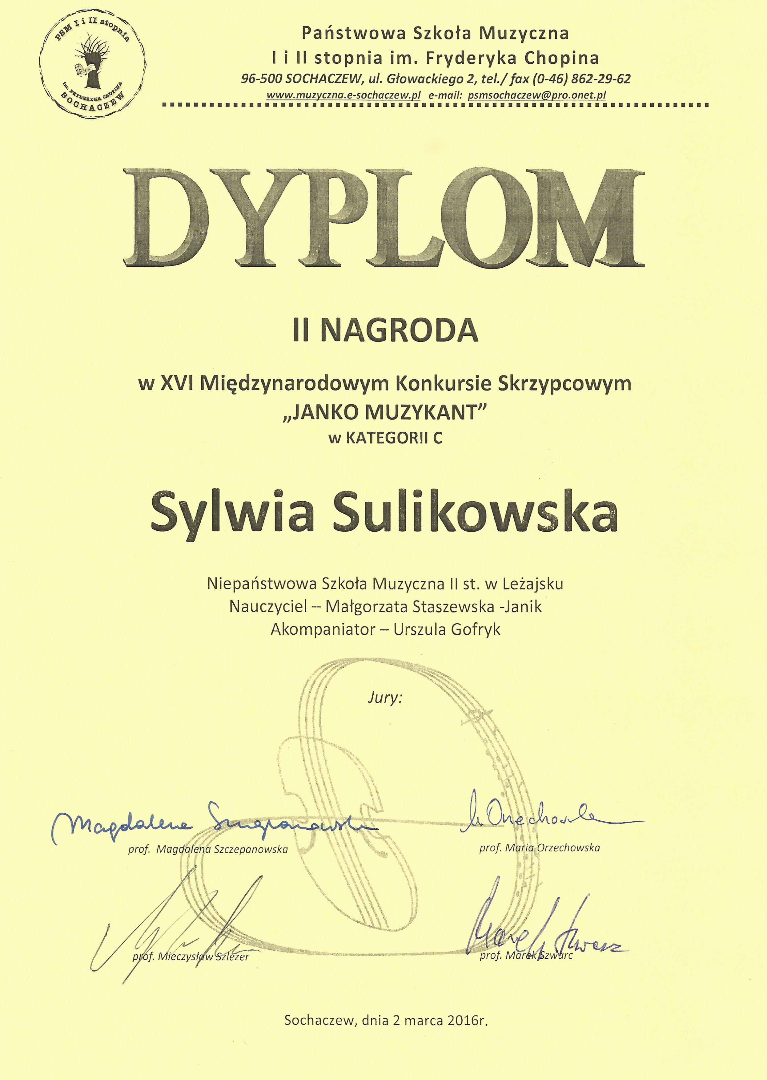 Sylwia Sulikowska - Sochaczew