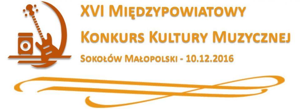 Zaproszenie na XVII Międzypowiatowy Konkurs Kultury Muzycznej w Sokołowie Młp.