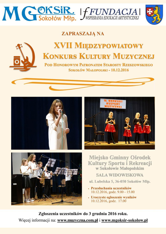 Plakat Kultura Muzyczna 2016