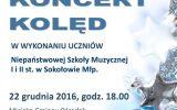 Zaproszenie na Koncert Kolęd w Sokołowie Małopolskim