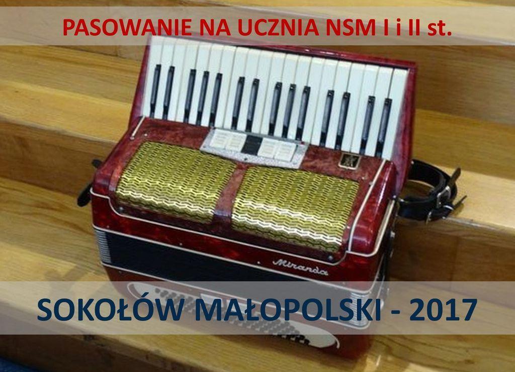 Pasowanie w NSM I i II st. w Sokołowie Małopolskim
