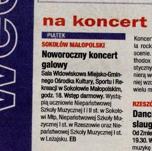 """Notatka prasowa - """"Nowiny - Gazeta Codzienna"""" 14.01.2011"""