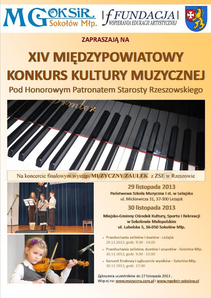 XIV Konkurs Kultury Muzycznej