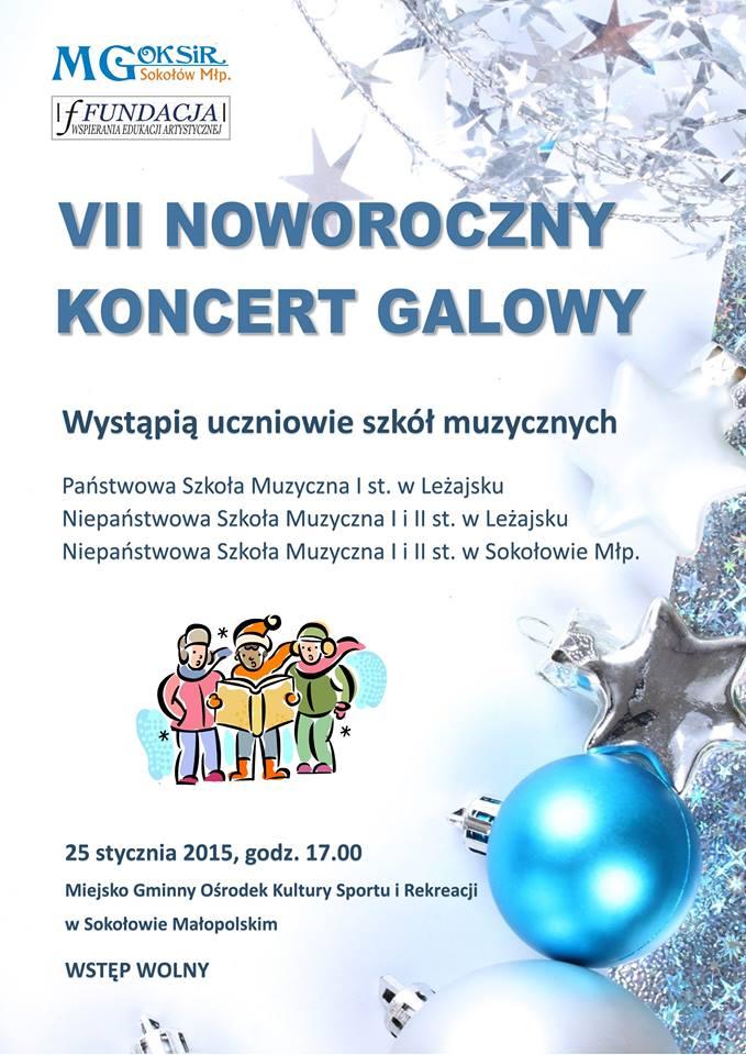 Zaproszenie na VII Noworoczny Koncert Galowy