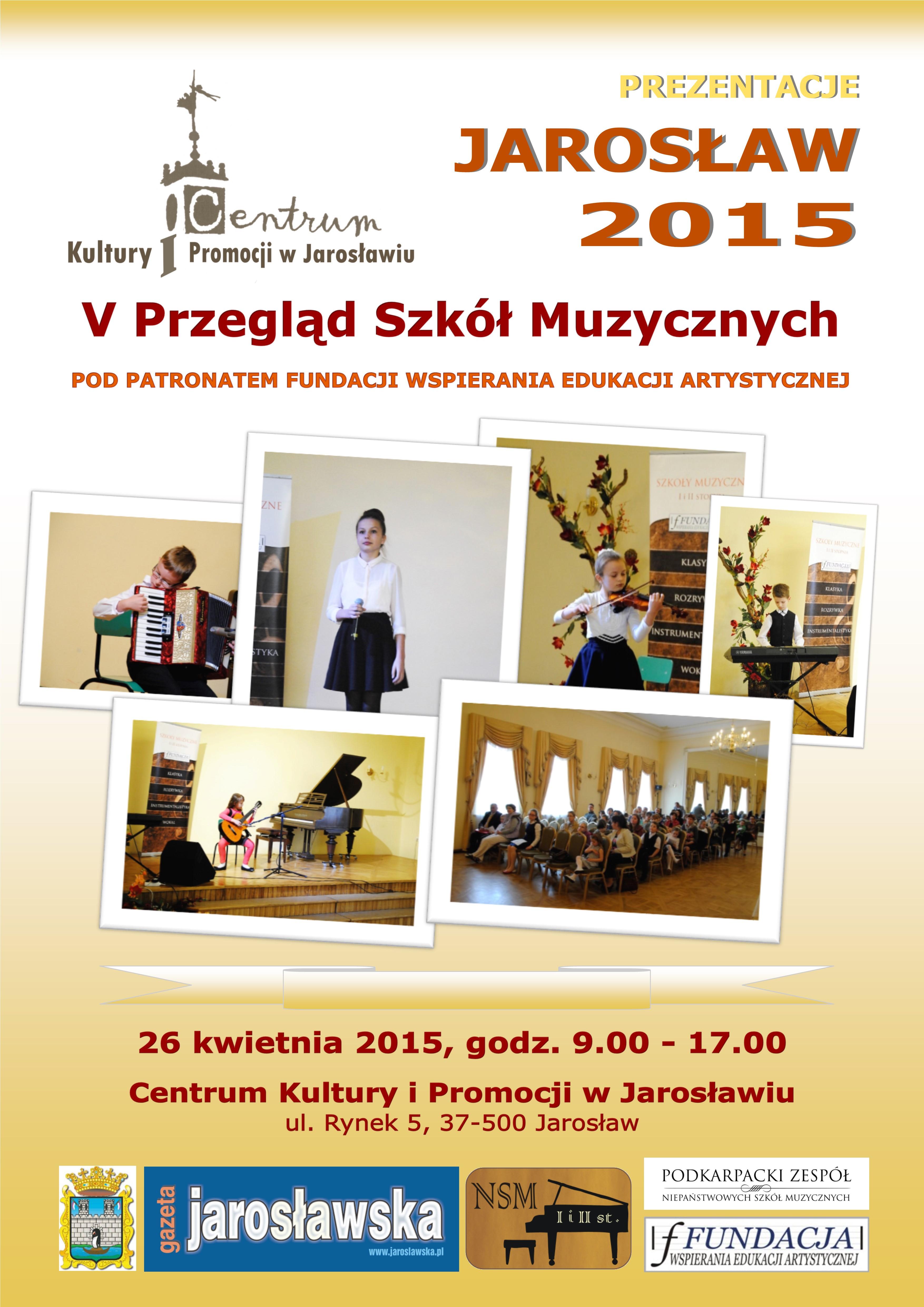 V Przegląd Szkół Muzycznych - Jarosław 2015