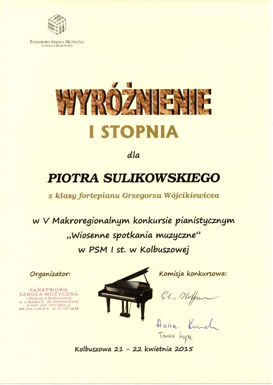 Piotr Sulikowski - 21.04.2015
