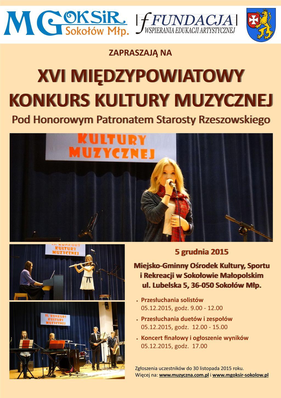 plakat kultura muzyczna sokołów 2015