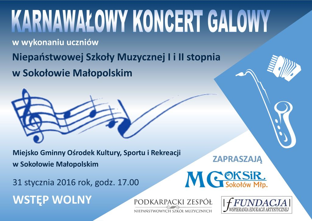 Karnawałowy Koncert Galowy 2016