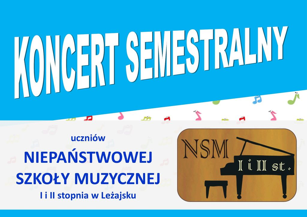 Zapraszamy na koncert semestralny w Leżajsku