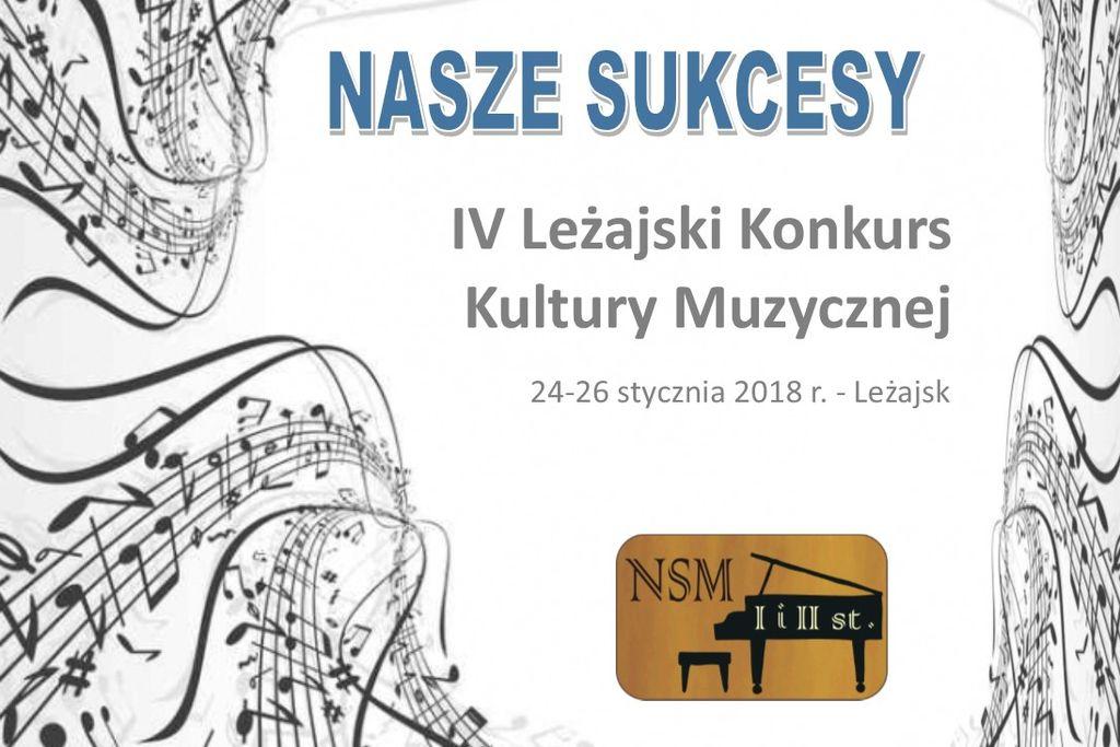 Uczniowie PZNSM wśród najlepszych na konkursie w Leżajsku