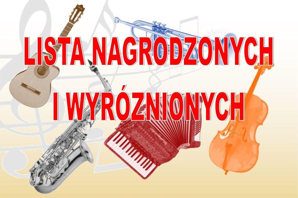 Laureaci VIII Przeglądu Szkół Muzycznych w Pruchniku