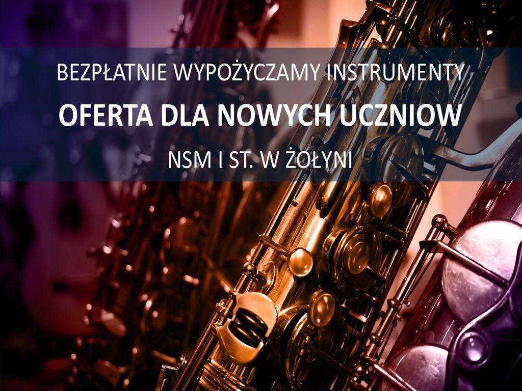 Bezpłatne instrumenty dla uczniów NSM I st. w Żołyni