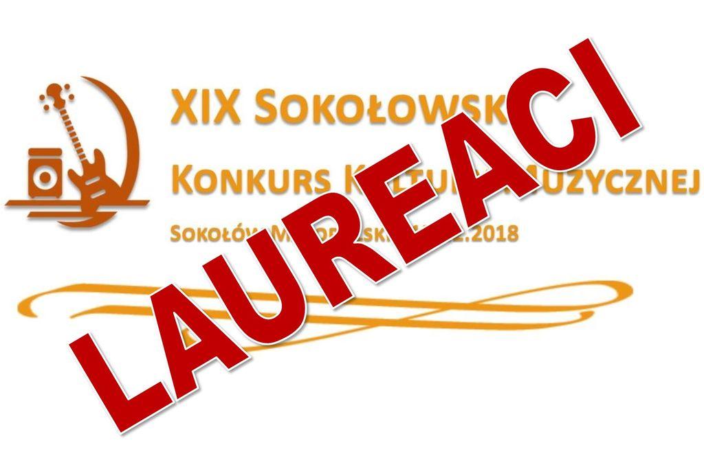 Lista nagrodzonych w XIX Sokołowskim Konkursie Kultury Muzycznej