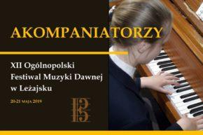 Wyróżnieni akompaniatorzy XII Ogólnopolskiego Festiwalu Muzyki Dawnej w Leżajsku