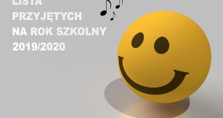 Lista przyjętych do szkół muzycznych PZNSM