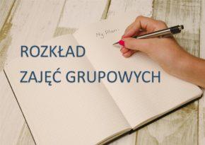 Rozkład zajęć grupowych – rok szkolny 2019/2020