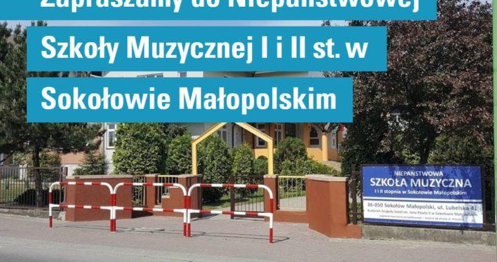 Zapraszamy do NSM I i II st. w Sokołowie Młp.