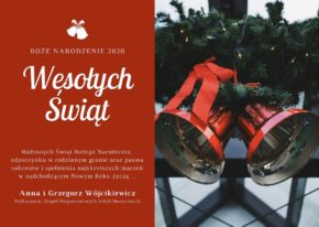 Życzenia świąteczne – Boże Narodzenie 2020